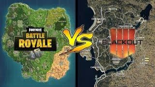 Fortnite Map Vs Blackout Map Map Size Comparison With Images