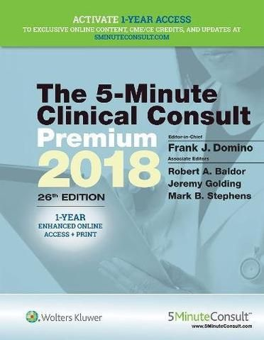5-Minute Clinical Consult Premium 2018 (The 5-Minute Consult