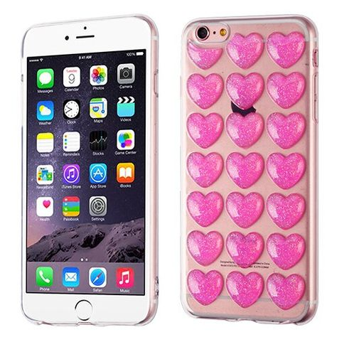 Funda iPhone 6 6s Icase Tpu Love Glitter - iCase