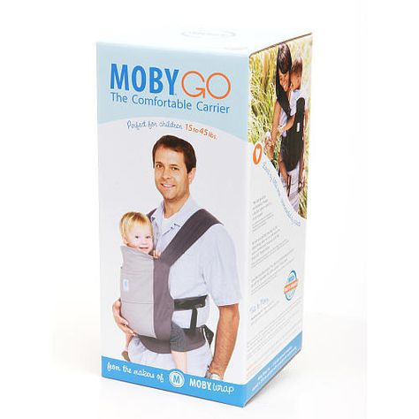 24ff9f8c62d Moby Wrap GO Baby Carrier - Black - Moby Wrap - Babies