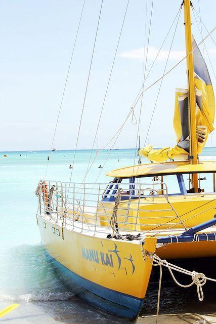 Sea Yellow Yacht Boat Boat Sailing