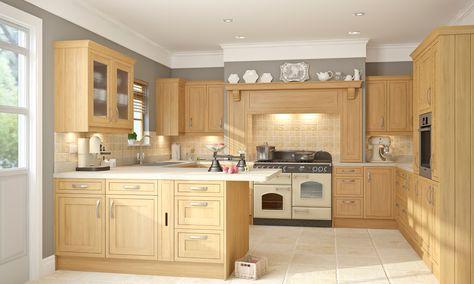 Light-Oak-Framed-Kitchenjpg (1333×800) Кострища Pinterest - brigitte küchen händler