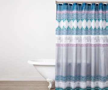 Purple Navy Blue White Jaipur Stripe 10 Piece Reversible