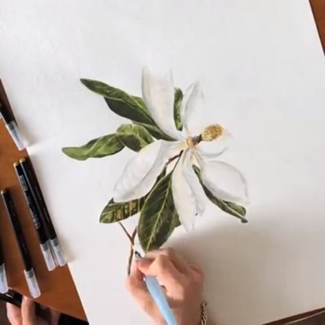 Find inspiration for your next floral #design with this #flower #painting timelapse! Artist Credit: @nate.geo