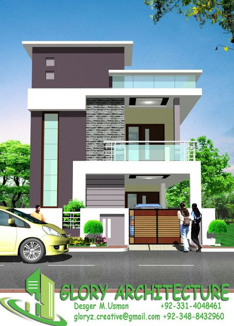 25x50 House Elevation Islamabad House Elevation Pakistan House Elevation Glory Architecture House Elevation Independent House Small House Front Design