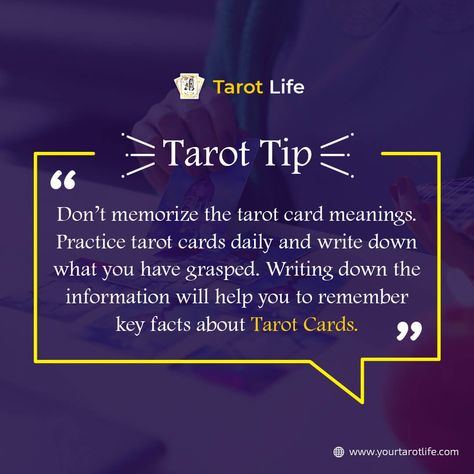 Tarot Tip  #TarotLife #Tarot #tarottips #Tarotreading  #tipoftheday #tarotdecks #tarotcards #tarotapp #tarotcardreadings #dailytarot #tarotcardsdaily #tarotmeanings #tarotpractice #freetarot #freetarotreading #tarotfacts #wednesdaytip