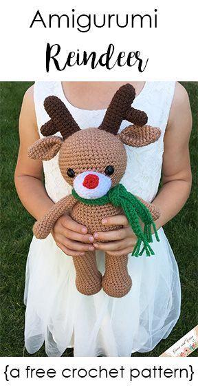 Amigurumi Reindeer - A Free Crochet Pattern