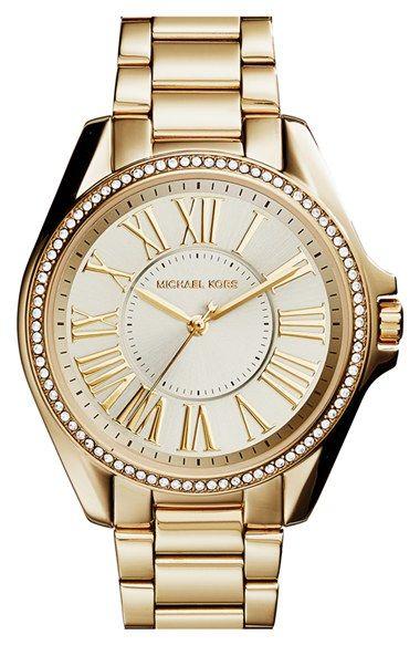 0aa7715f3597 MICHAEL Michael Kors Michael Kors  Kacie  Crystal Bezel Bracelet Watch