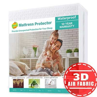 Top 10 Best Waterproof Mattress Protectors In 2019 Reviews Waterproof Mattress Pad Waterproof Mattress Mattress Pad Cover