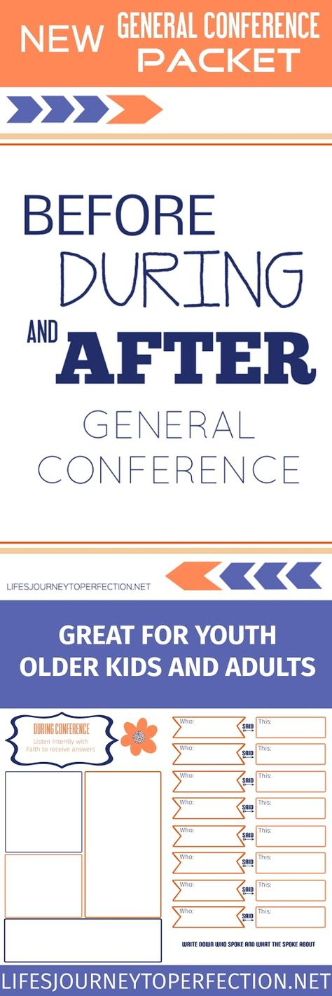 General Conference Packet and Worksheet! (Before, During and After General Conference)