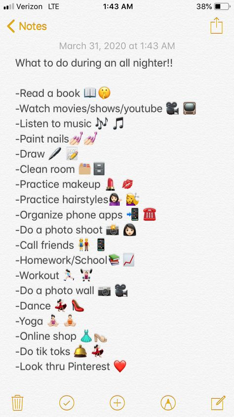 Things to do during pulling an all-nighter!!