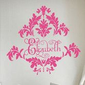 Personalized Tres Chic Damask Wall Decal
