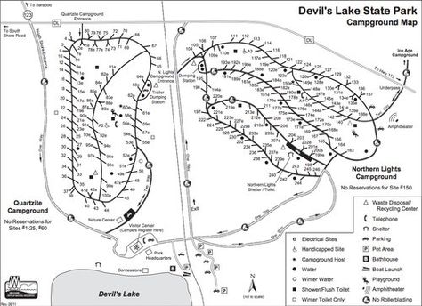 devils lake campground map Quartzite Northern Lights Campground Map With Images Lake devils lake campground map