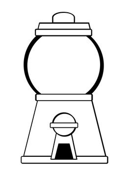 Gumball Machine Coloring Pages Freebie Gumball Machine Bubble Gum Machine Bubble Drawing