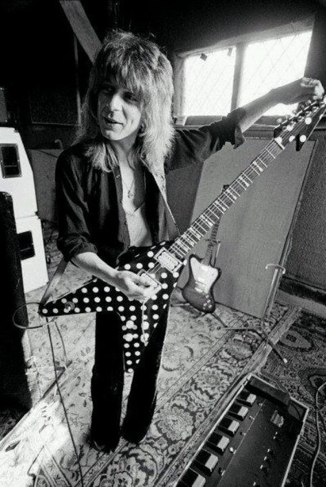 Randy Rhoads.Was born December 6, 1956 he died in March 19, 1982 he was an American heavy-metal guitarist who played with Ozzy Osbourne and quiet riot he died in a plane accident while on tour with Osborne in Florida in 1982