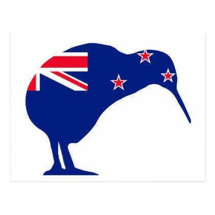New Zealand Flag With Kiwi Silhouette Postcard Postcard Post Card Postcards Unique Diy Cyo Customize Personalize New Zealand Flag Silhouette Art New Zealand
