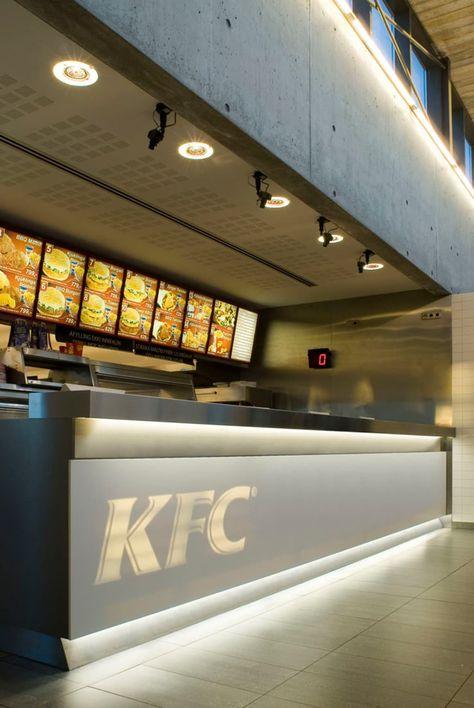 Modern KFC Fast Food Restaurant Design by PK Arkitektar - Iroonie.