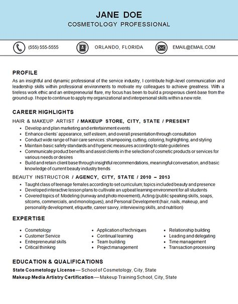 7 best student resumes images on Pinterest Resume ideas, Resume - cosmetology resume examples