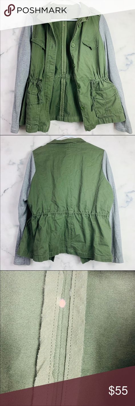 Nwt Torrid Size 3 Olive Green Zip Front Military Jacket