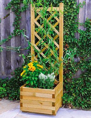 Image Result For Planter Trellis Patio Planter Trellis Diy Container Gardening Wooden Planters With Trellis