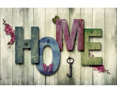 Welcome Home - USA Shipping - DIY Paint by Number Kit Acrylic Painting Home Decor
