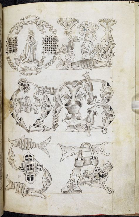 The Macclesfield Alphabet Book is an exquisitely beautiful c. 15th-century pattern book. It contains the most complete set of designs for manuscript decoration known to have survived from late-medieval Britain.