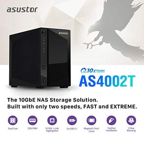 Asustor As4002t Network Attached Storage Free Exfat License