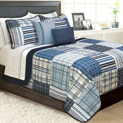 Beachcrest Home Kennebec 3 Piece Quilt Set Size: King | Products ... : quilt king products - Adamdwight.com