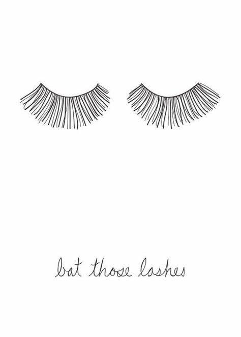 bat those lashes