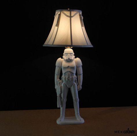 Details About Star Wars Desk Lamp Shade Storm Trooper Figure