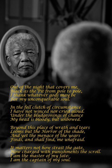 Nelson Mandela Invictus By William Ernest Henley Quotes
