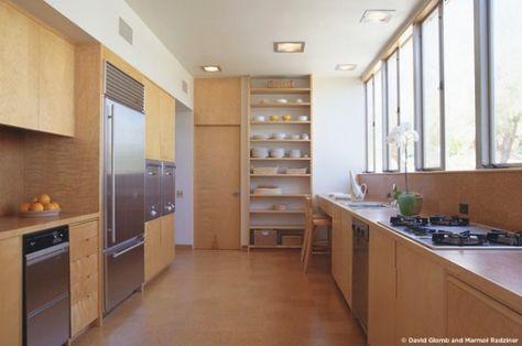 wooden kitchen in kaufman desert house, palm springs | interior, Innenarchitektur ideen