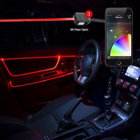 6ft Fiber Optic Roll 3pc LED Head XKchrome App Controlled