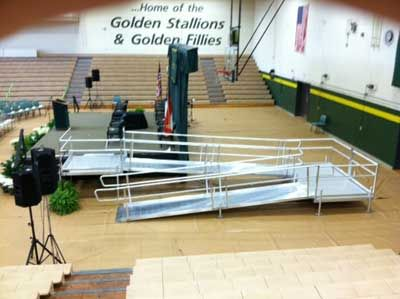 Used Wheel Chair Ramps ada modular wheelchair ramps for stages and graduation ramps