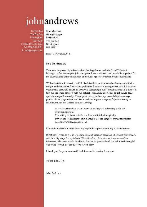 Project manager cover letter, example, resume, project ...