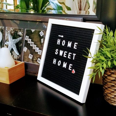 Felt Letter Board Black 10 X 10 Inch White Frame 290 Changeable White Plastic Letters With Images Plastic Letters White Frame Felt Letter Board