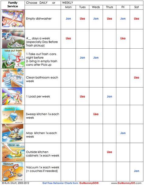 Editable Chore Charts  Chore Chart Pdf Printable Wallpaper