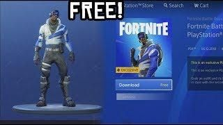 How To Download Free Playstation Skin In Fortnite New Playstation Plus Skin Back Bling Free Newest Playstation Fortnite Playstation