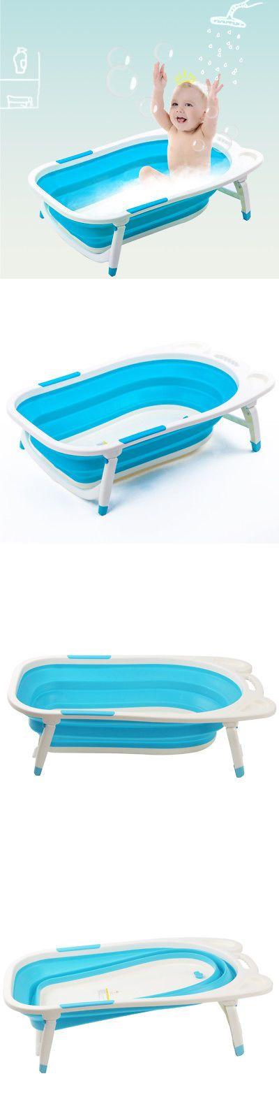 Bath Tubs 113814: Blue Baby Folding Bathtub Infant Collapsible ...
