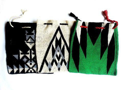 Tapestry crochet bags