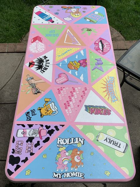 Custom Beer Pong Tables, Beer Table, Diy Table, Cute Canvas Paintings, Small Canvas Art, Diy Canvas Art, Art Sur Toile, Niklas, Diy Painting