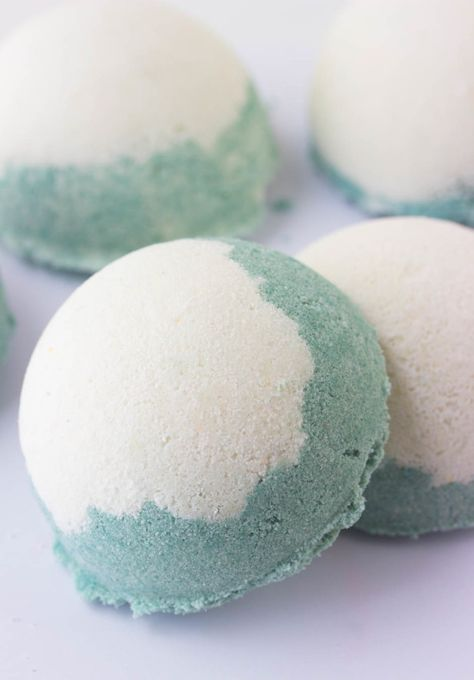 100 percent all natural Bath Bombs made with pure shea butter, peppermint essential oils and spiurlina powder for color.. Minty Bath Truffles (Pure Essential Oil Bath Bombs)