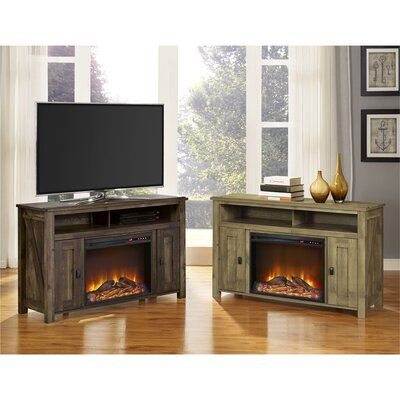 Mistana Whittier Tv Stand For Tvs Up To 50 Inches With Electric Fireplace Included Electric Fireplace Electric Fireplace Tv Stand Tv Console With Fireplace