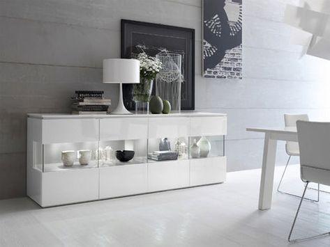 Credenza A Vetri Ikea : Credenza moderna in legno vetro laccato trilocy