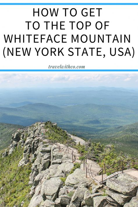 This is how you drive up Whiteface Mountain (New York State)