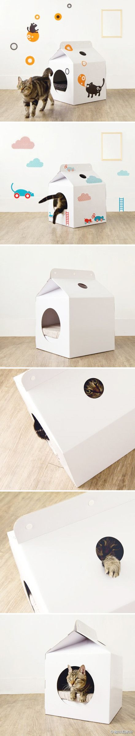 Milk Carton Pet Bed::Can be Drawn on or Painted on to Customize anyway you like.