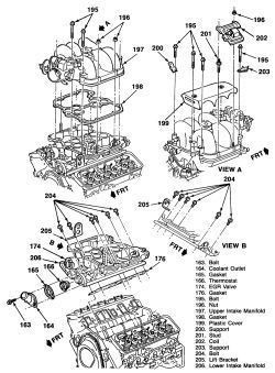 Chevy 4.3 Engine Diagram : chevy, engine, diagram, Chevy, Vortec, Engine, Diagram., Blazer, Vortex, Installed., Silve…, Chevy,, Trailblazer,, Motors