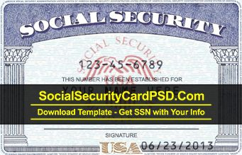 Download Ssn Archives Social Security Card Psd Template Ssn Generator Social Security Card Id Card Template Report Card Template
