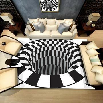Vortex Illusions Teppich In 2020 Teppich Wohnzimmer Schlafzimmer Teppichboden Haus Wohnzimmer