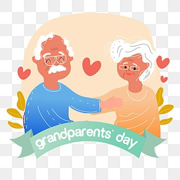 Hand Drawn Cartoon Banner Grandparents Day Illustration Grandparents Clipart Love Grandparents Day Png And Vector With Transparent Background For Free Downlo Grandparents Day Fathers Day Banner Cartoon